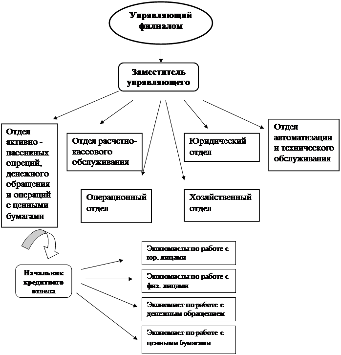 Анализ структуры организации