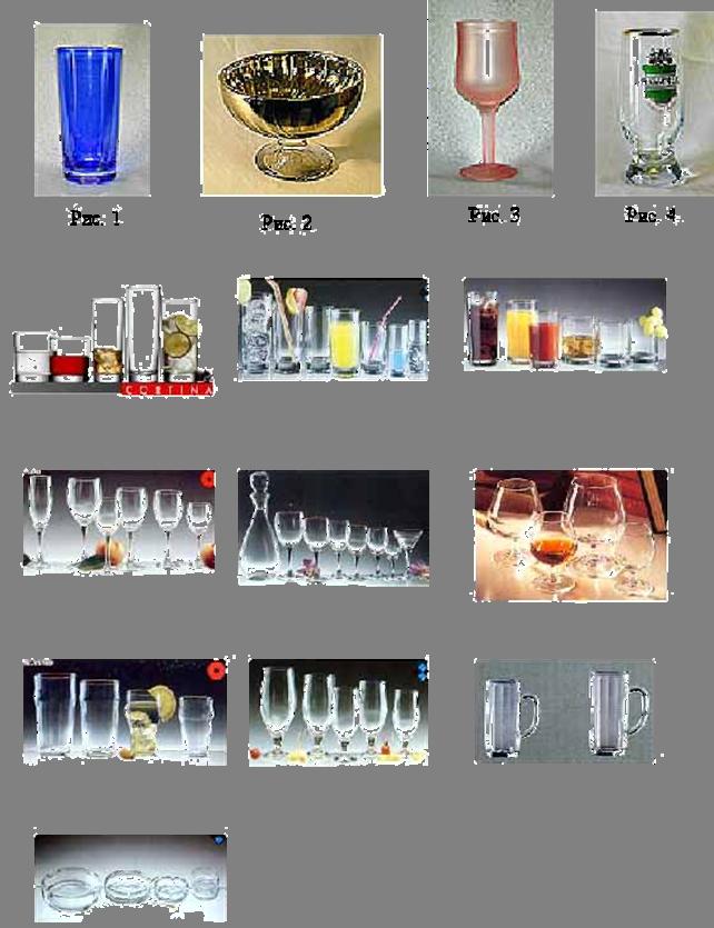 Анализ ассортимента и потребительских свойств стеклянной посуды
